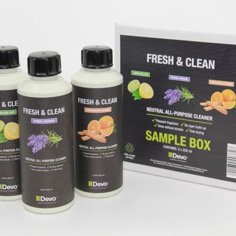 Devo Fresh and Clean sample box